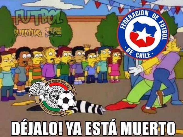 Memes de la goliza de Chile a México