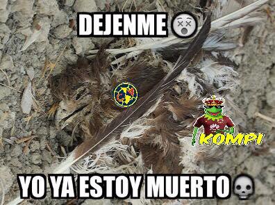 """Memes de la derrota de la Águilas ante las Chivas en el """"clásico"""""""