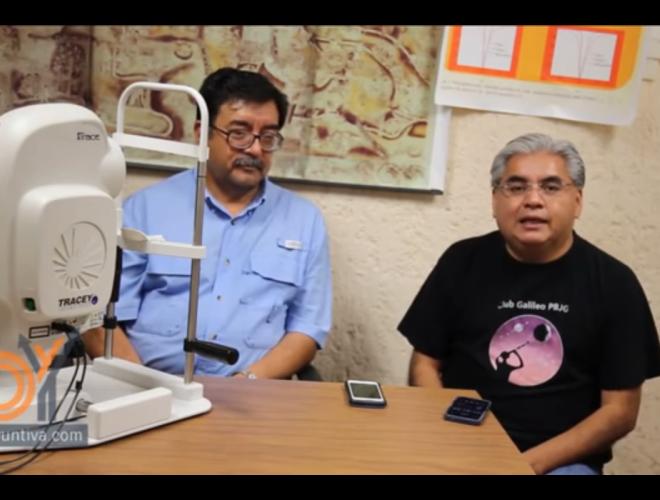 Ciencia: Modelo del cristalino en laboratorio de óptica.